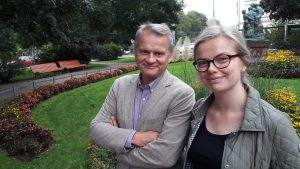 Chairholder Markku Wilenius and Project Manager Laura Pouru